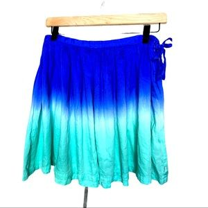 DKNY ombre Tie Dye Dip full skater skirt Girls 14